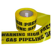Warning Label - High Pressure Gas Pipeline Below