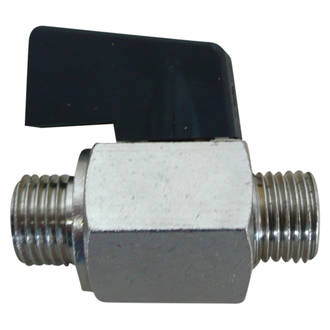 "Mini Ball Valve 3/8"" Male/Male"