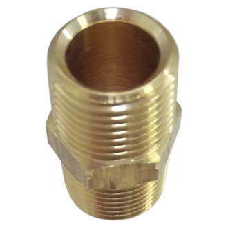 Hex Nipple with Cone Chamfer