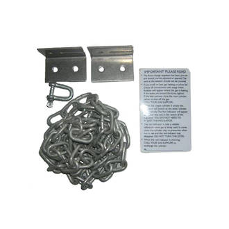 Sticker, chain and clips kit for auto changeover regulator