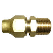 Male Flare to Male Connector & Nut