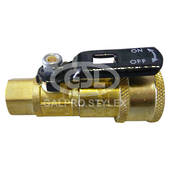 Quick Connect Body & Shutoff Valve 1/4""
