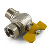 "3/4"" Swivel/M T/H Gas Angle Ball Valve"