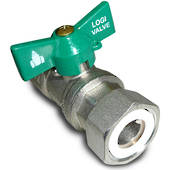 "Swivel Ball Valve 3/4"" F/F"