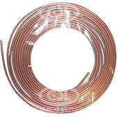10mm x 0.7mm x 10mtr Copper Tube Coil