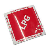 LPG Diamond Label Sticker