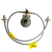 Single stage 3kg regulator kit with changeover valve